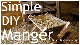 Easy DIY Manger - Great for nativity scenes