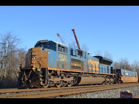 CSX railfanning around Baltimore with a rare SD70ACe!!!!