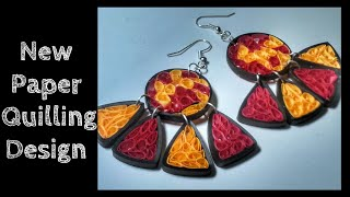 NEW PAPER QUILLING EARRING DESIGN TUTORIAL.(Advanced Paper Quilling Tutorial)