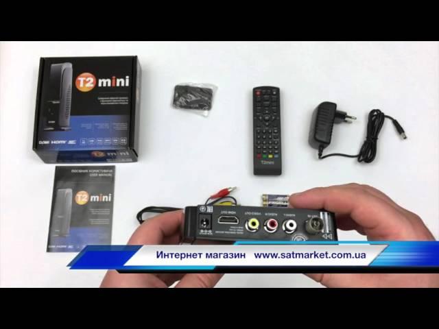 Видео обзор T2 mini цифровой эфирный DVB-T2 ресивер