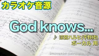 カラオケ音源『God knows...』 涼宮ハルヒ(平野綾) 【ボーカル】用です...
