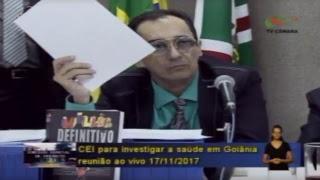 CEI da Saúde na Câmara de Vereadores ouve a secretária de Saúde de Goiânia Fátima Mrue