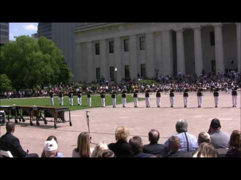 2017-05-16 Ohio Statehouse  - Marine Corps Silent Drill Platoon