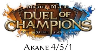Might & Magic Duel of Champions - Akane 4/5/1 standard - Frozen Wave Lock + Żywiołaki