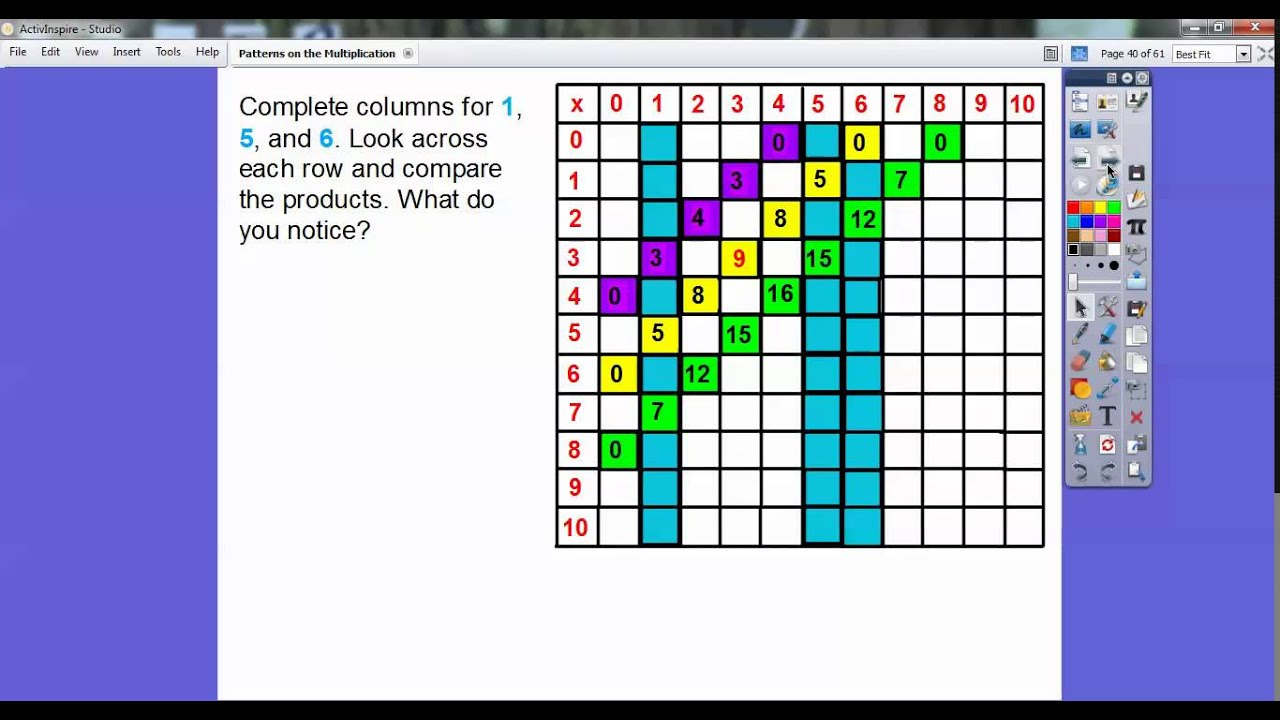 Patterns on the multiplication table lesson 47 youtube patterns on the multiplication table lesson 47 gamestrikefo Choice Image