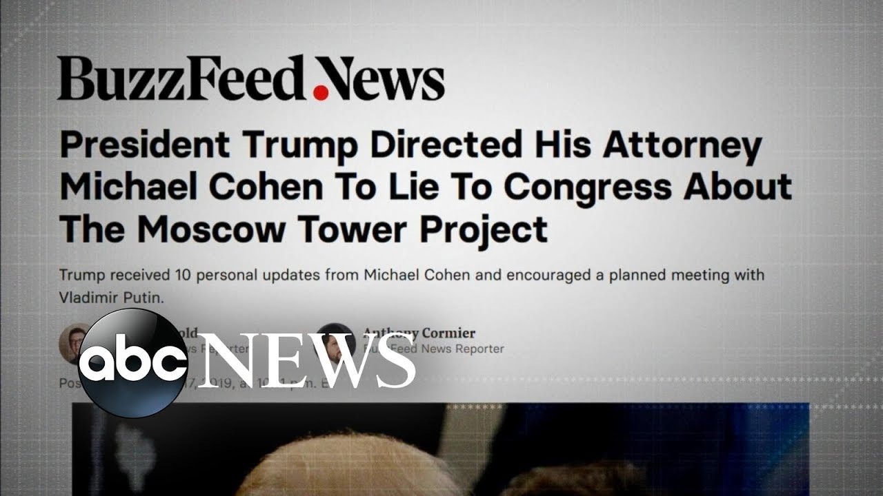 Democrats vow to probe BuzzFeed report Trump directed Michael Cohen to lie to ...