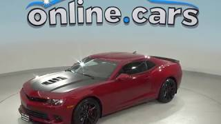 A99062GT Used 2014 Chevrolet Camaro SS RWD 2D Coupe Red Test Drive, Review, For Sale