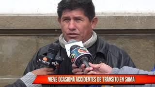 NIEVE OCASIONA ACCIDENTES DE TRÁNSITO EN SAMA