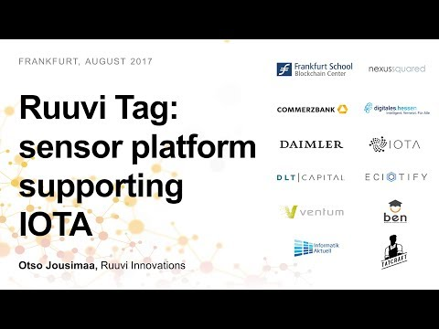 RuuviTag: an open-source sensor beacon platform supporting IOTA (Otso Jousimaa, Ruuvi Innovations)