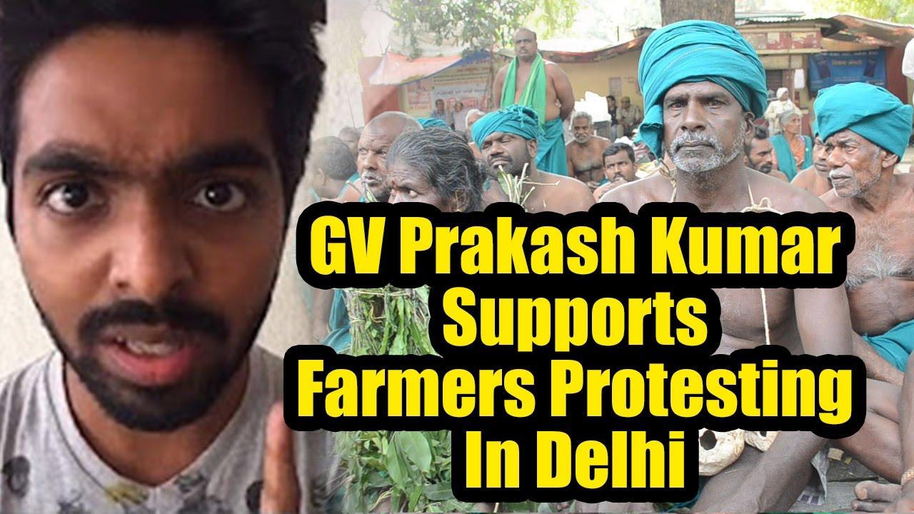 Actor GV Prakash Kumar Supports Farmers Protesting In Delhi   Tamil Cinema News   Reel Petti