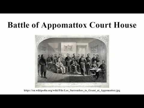 Battle of Appomattox Court House
