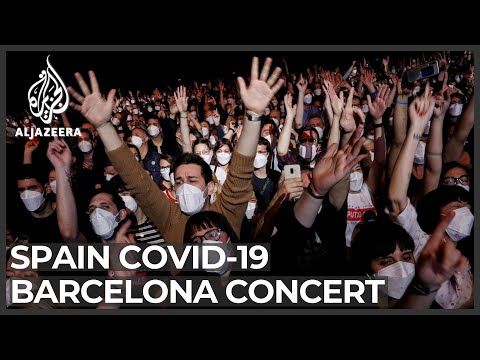 Thousands attend Barcelona rock concert after COVID tests