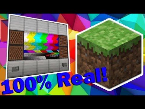 Minecraft 100% WORKING TV!!! No MODS *Tutorial* (NEW *1 14* Update) WOW!