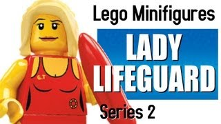 Lego Minifigures Series 2 - Lifeguard - Minifigcentral Unpacking Video & Toy Review