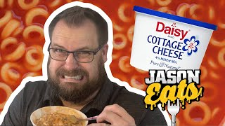 Jason Eats SpaghettiOs with Cottage Cheese (Taste Test Challenge)