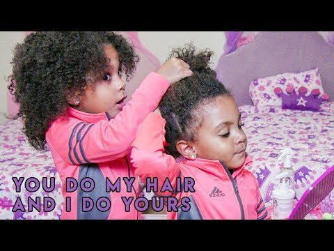 TWINS STYLE EACH OTHERS HAIR! (BY THEMSELVES)