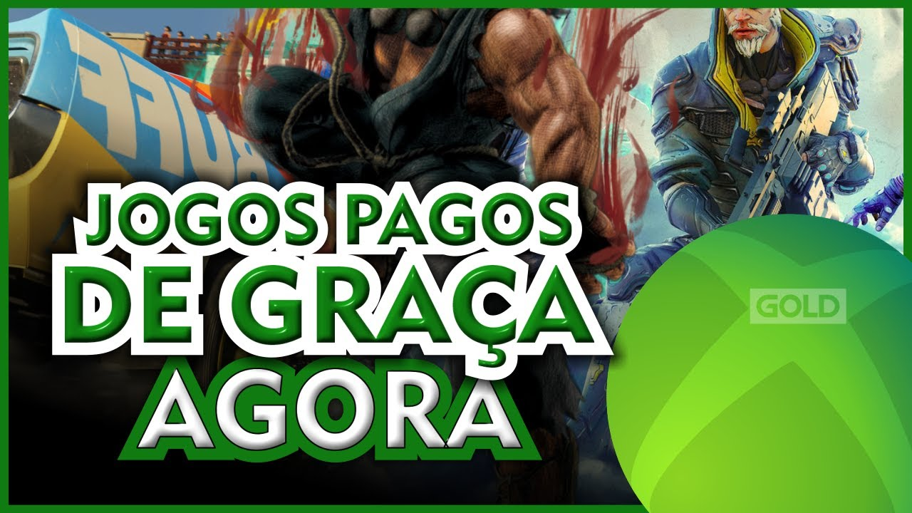 SÓ JOGÃO! 4 JOGOS LIBERADOS de GRAÇA AGORA no XBOX ONE e XBOX SERIES X|S para TODOS com LIVE GOLD!