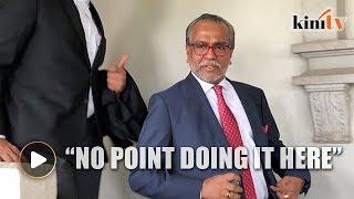 Shafee seeking Gopal Sri Ram's removal as prosecutor