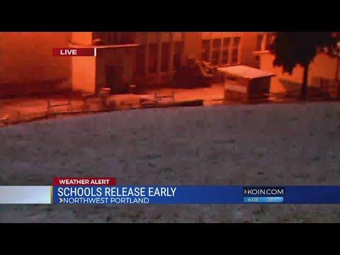 School districts keep a close eye on forecast