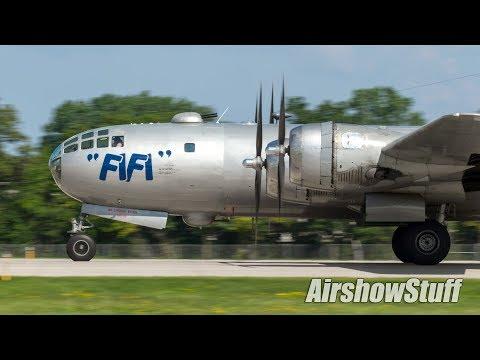 "B-29 Superfortress ""Fifi"" Arrival - EAA AirVenture Oshkosh 2017"