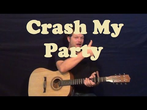 Crash My Party (Luke Bryan) Easy Strum Chords Guitar Lesson How To Play Tutorial