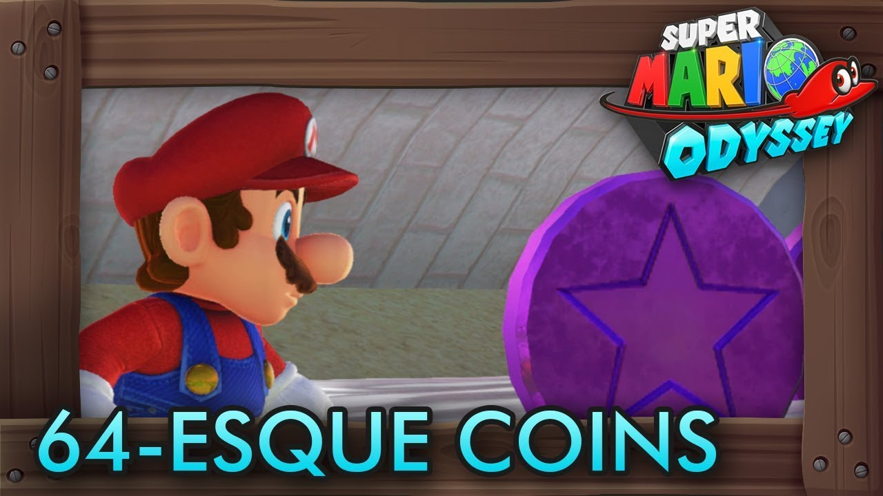 Super Mario Odyssey All Purple 64 Esque Coins Mushroom Kingdom