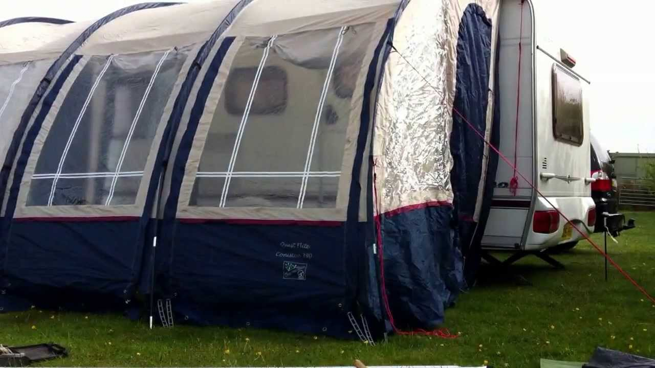 Caravan Awning Being Put Up In Record Time Subscribe For More
