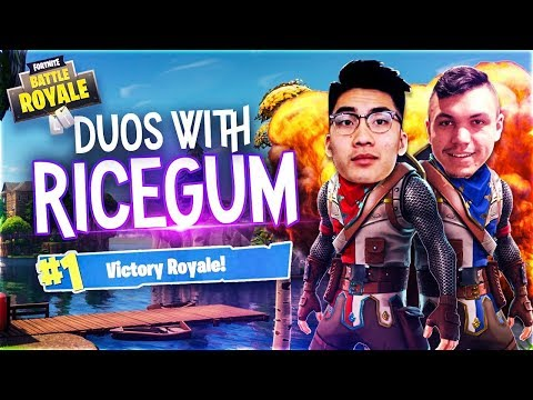 BEATING RICEGUM IN DUOS ON FORTNITE: Battle Royale (WE DID A 1v1)