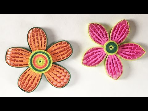 How To Make Beautiful Quilling Flower Using Combing Technique | DIY Paper Quilling Tutorial
