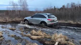 Infiniti FX35 in extreme off road conditions