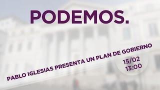 Pablo Iglesias presenta un plan de gobierno