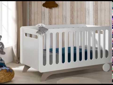 habitacin de beb completa ecobio en color blancolino modelo feliz