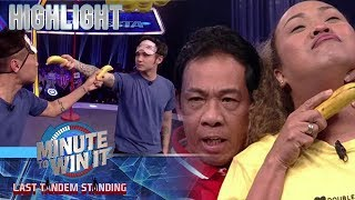 Mark, Kean, Negi, Long at Moira, nagbenta ng saging bilang mga kontrabida | Minute To Win It
