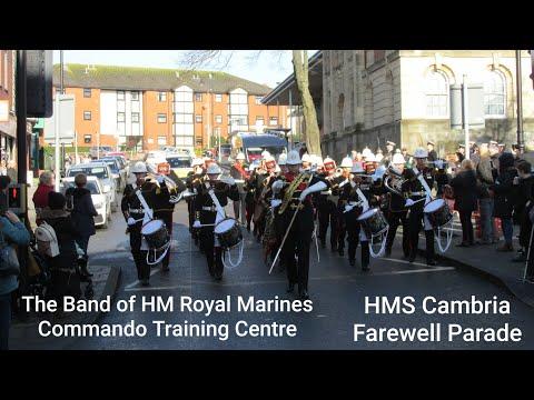 the-band-of-hm-royal-marines-commando-training-centre---hms-cambria-farewell-parade
