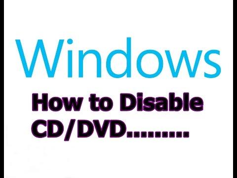 How to Disable CD DVD RW writer in windows 7(32/64 bit)/vista/xp  in Hindi/Urdu