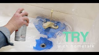 Bathroom Faucet Makeover | TRY with Hometalk