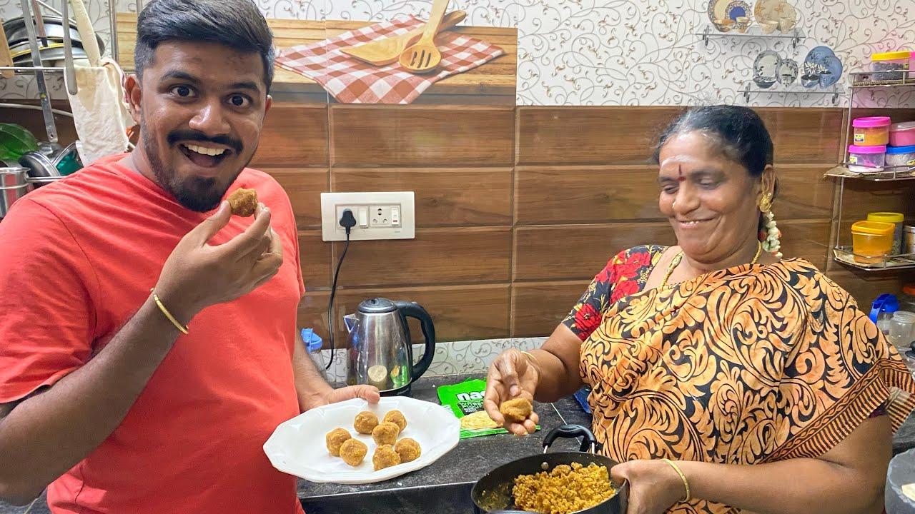 ரொம்ப நாளாக Plan பண்ணி செஞ்சிட்டோம் 😂😂|| Sweet Poli Recipe in Tamil || Amma Kai Pakkuvam