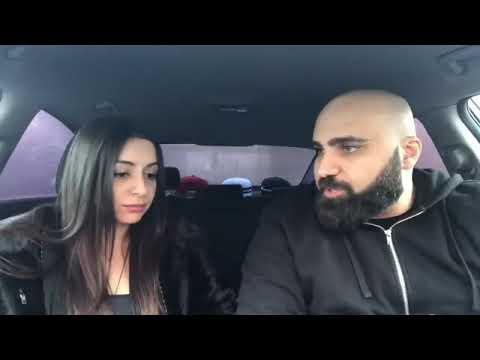 Армянские муж и жена. Ссора в машине 😂😂😂