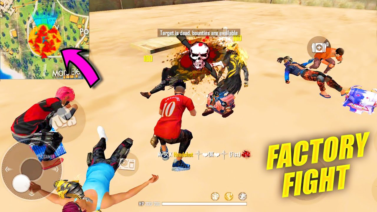 Duo vs Squad OP Gameplay With Karan   PK GAMERS King Of Factory Fist Fight - Garena Free Fire