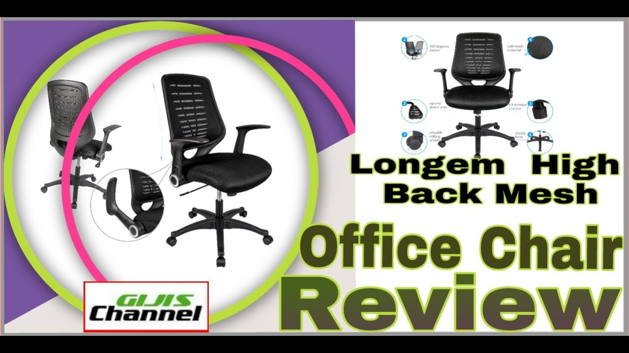 longem high back mesh office chair review gijis channel youtube