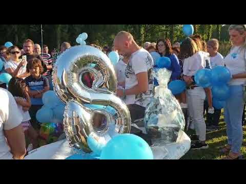 Homenaje a Desirée en Xermade en su octavo cumpleaños