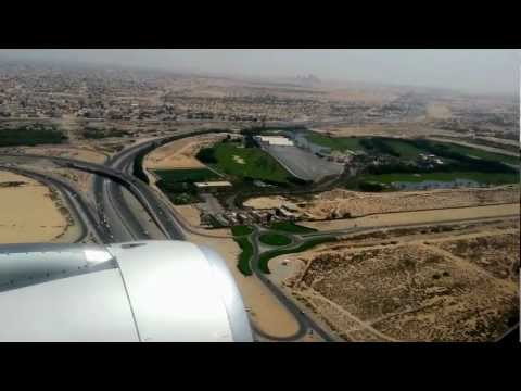 Flight Landing Sharjah Airport