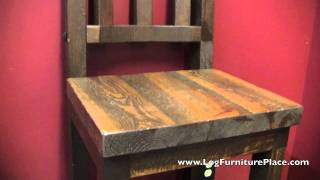 Lonestar Rustic Barnwood Bar Stool From Logfurnitureplace.com