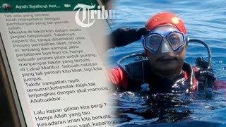 'Proses Pulang Menjumpai Takdir' Penyelam yang Meninggal Sempat Tulis Puisi tentang Korban Lion Air