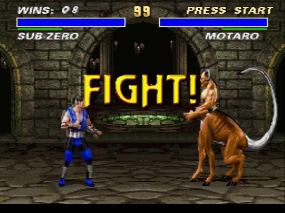 sub zero mortal kombat original game