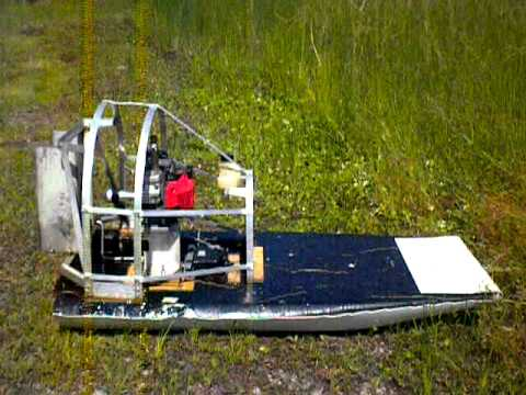 rc airboat 46cc homelite engine - YouTube