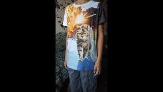 Детская футболка с 3D-печатью «Брутальный кот» | AliExpress