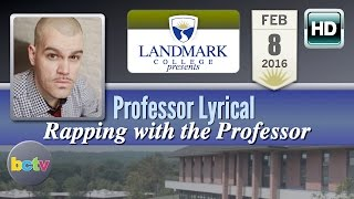 Professor Lyrical, 'Rapping with the Professor' 2/8/16 at Landmark College