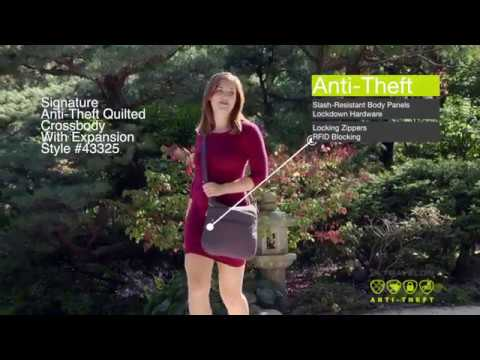 37664a6b51 Anti-Theft Signature Quilted Expansion Crossbody Style #43325 - YouTube