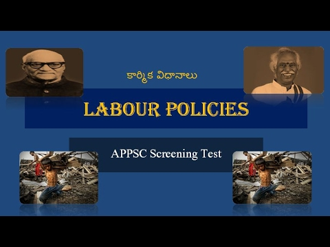 Labour Policies of Union and State Governments.Telugu.Hints